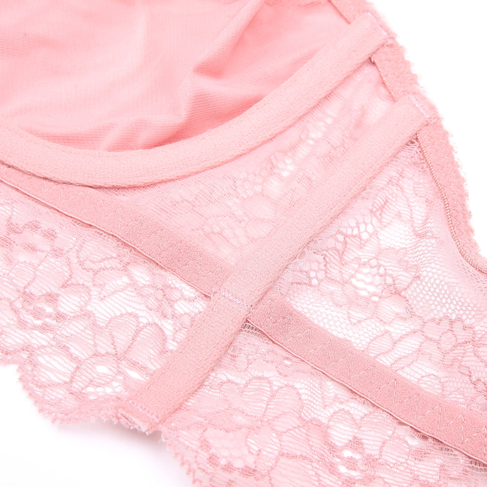 Varsbaby sexy unlined 3/4 cup underwear floral lace 3 pcs bras+high-waist panties+thongs for ladies