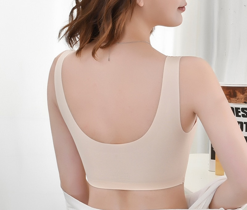Elifashion Seamless underwear full Wing lace Picture foam-latex Seperate Cup sexy beauty back NO steel ring vest one-piece bra