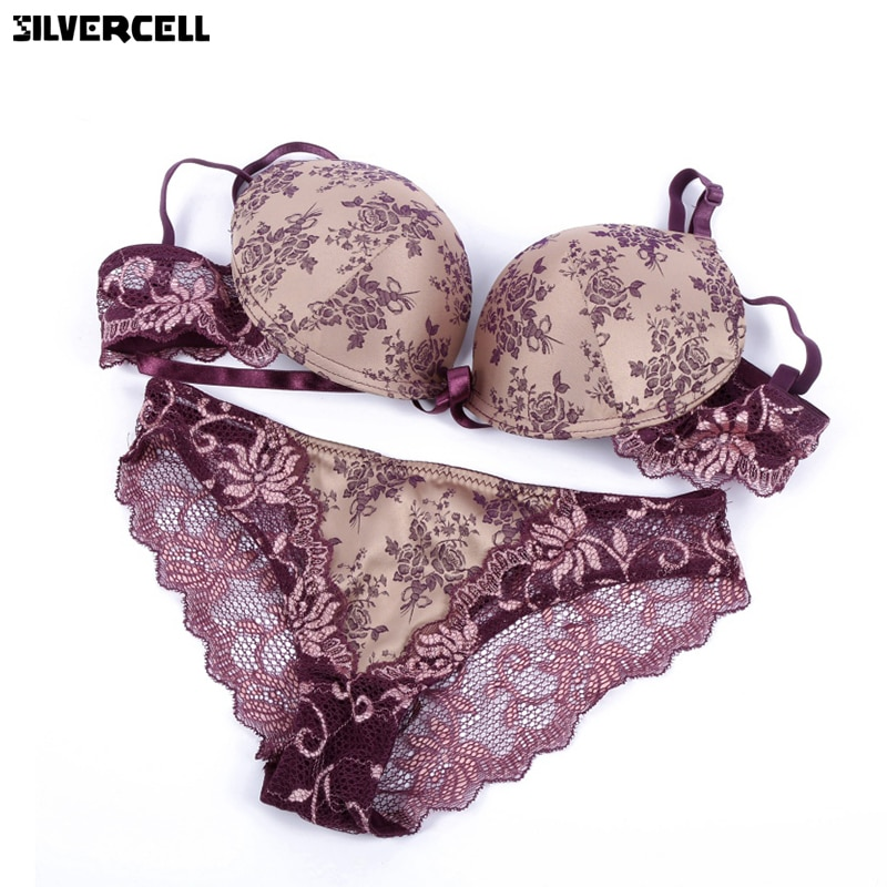 2019 French Romantic Brand Lace Bra Sets Sexy Women Underwear Set Push Up BC Bra and Panty Set seamless lingerie set